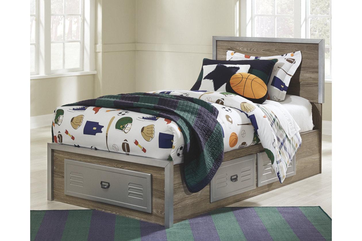 McKeeth Twin Panel Storage Bed